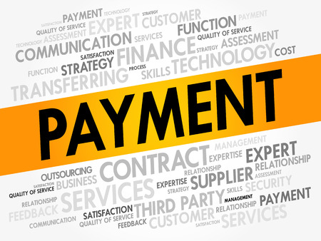 PAYMENT word cloud collage, business concept background Illustration