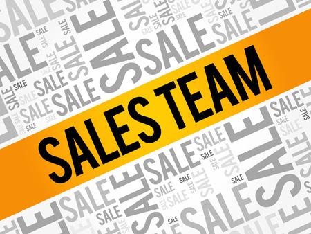 Sales Team words cloud, business concept background