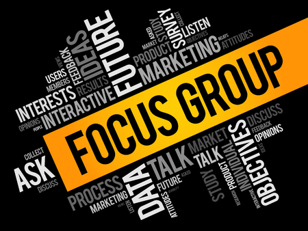 Focus Group word cloud collage, business concept background Reklamní fotografie - 123779367