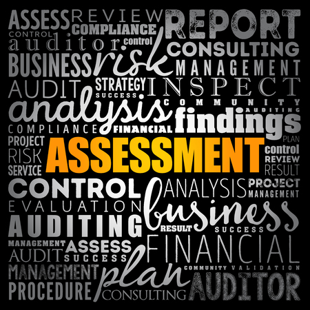 ASSESSMENT word cloud collage, business concept background Stock fotó - 123779387