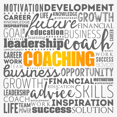 COACHING word cloud collage, business concept background Stockfoto - 123565675