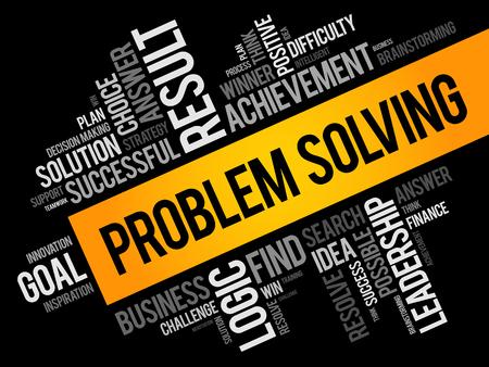 Problem Solving word cloud collage, business concept background Stock Illustratie