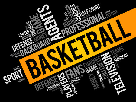 Basketball word cloud collage, sport concept background Banque d'images - 123500481