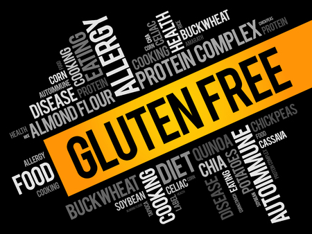 Gluten Free word cloud collage, food concept background