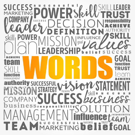 WORDS - word cloud collage, business concept background