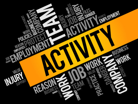 ACTIVITY word cloud collage, business concept background Vector Illustration