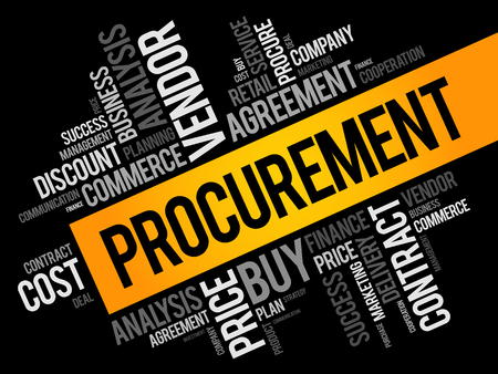 Procurement word cloud collage, business concept background
