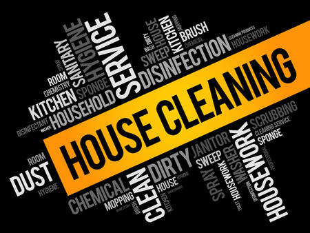 House Cleaning word cloud collage, concept background Illustration