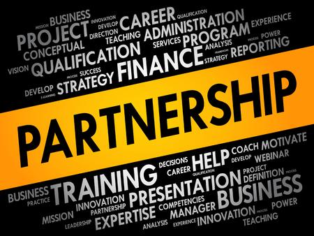 PARTNERSHIP word cloud, business concept background