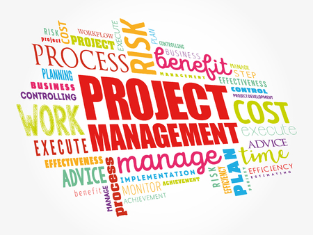 Project Management word cloud collage, business concept background Stock fotó - 123359126