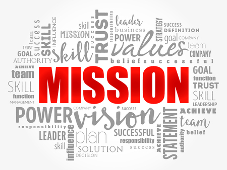 MISSION word cloud collage, business concept background Illusztráció