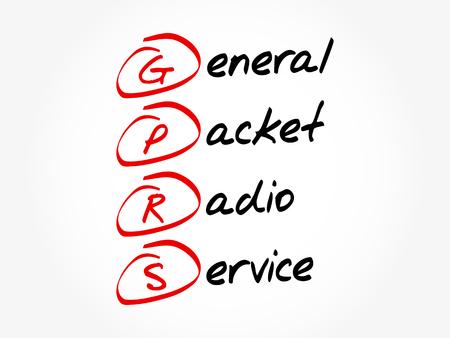 GPRS - General Packet Radio Service acronym, concept background.