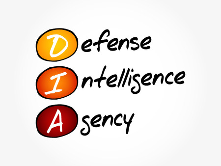 DIA - Defense Intelligence Agency acronym, concept background Ilustrace