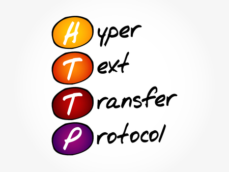 HTTP - Hyper Text Transfer Protocol, acronym concept background
