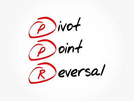 PPR - Pivot Point Reversal acronym, business concept background