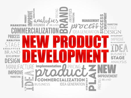 New product development word cloud collage, business concept background Reklamní fotografie - 121787716