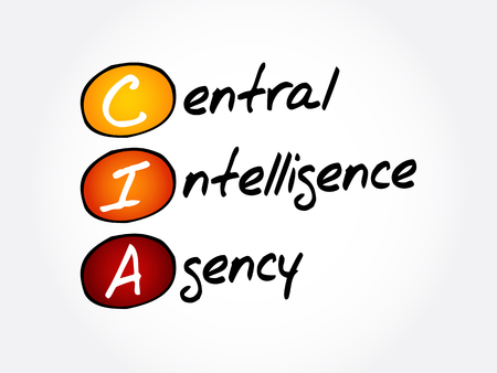 CIA - Central Intelligence Agency acronym, concept background Illustration