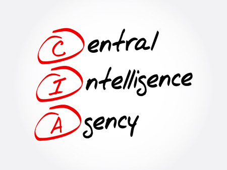 CIA - Central Intelligence Agency acronym, concept background Ilustração
