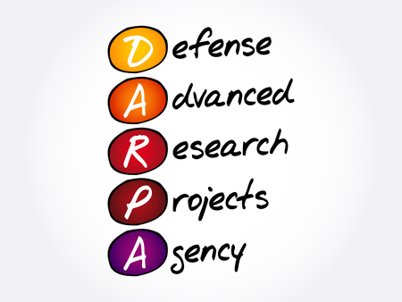 DARPA - Defense Advanced Research Projects Agency acronym, concept background Vectores