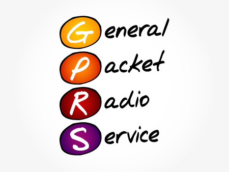 GPRS - General Packet Radio Service acronym, concept background.