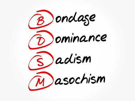 BDSM - Bondage, Dominance, Sadisme, Masochisme, arrière-plan concept acronyme
