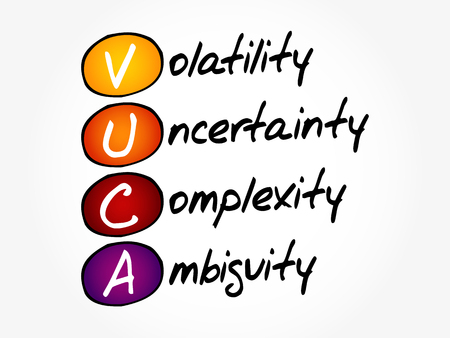 VUCA - Volatility, Uncertainty, Complexity, Ambiguity acronym, business concept background Stok Fotoğraf - 121787873