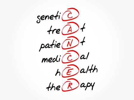 CANCER - Genetic treat patient medical health therapy acronym, health concept background
