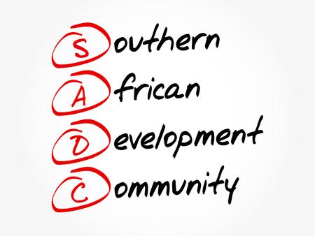 SADC - Southern African Development Community acronym, business concept background Illustration