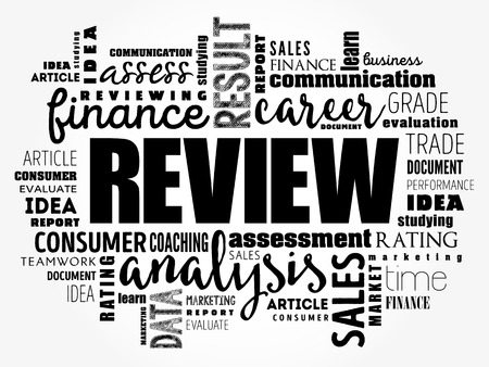 Review word cloud collage, business concept background Ilustração Vetorial