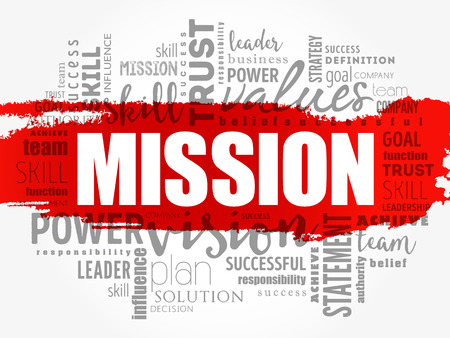MISSION word cloud collage, business concept background Stockfoto