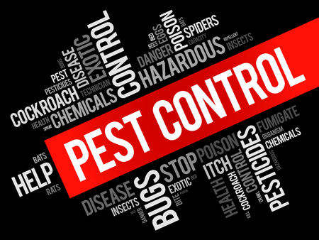 Pest Control word cloud collage, health concept background