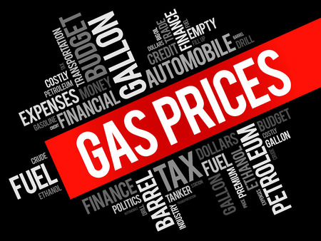 Gas Prices word cloud collage, business concept background