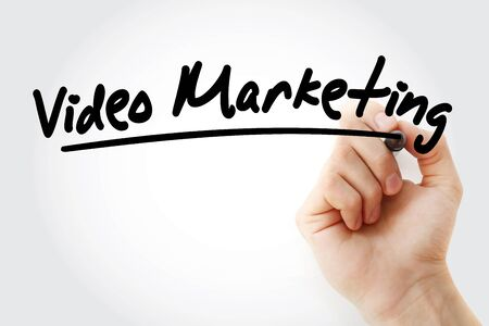 Video Marketing text with marker, business concept background