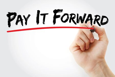 PAY IT FORWARD text with marker, concept background