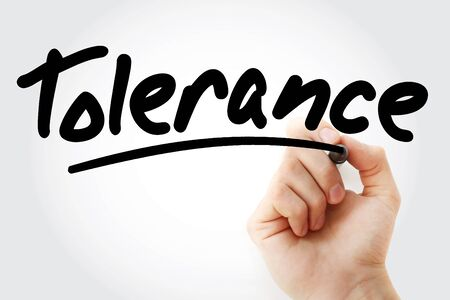 Tolerance text with marker, concept