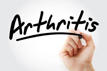Arthritis text with marker, concept Reklamní fotografie