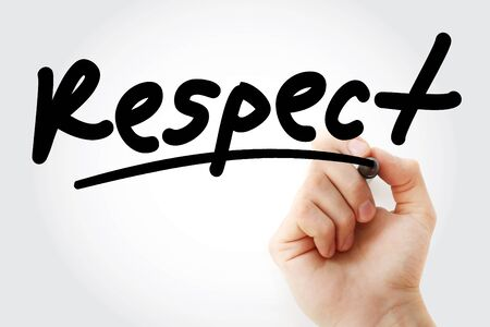 Respect text with marker, business concept 스톡 콘텐츠