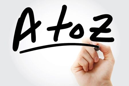 A to Z text with marker, business concept