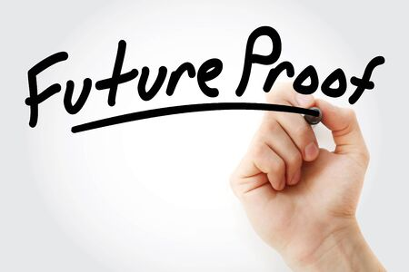 Future Proof text with marker, business concept