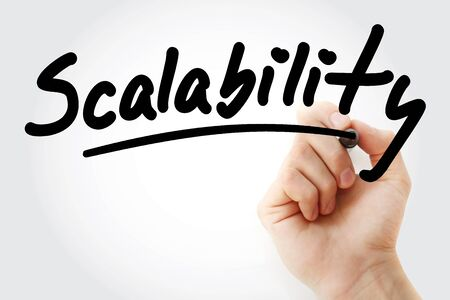 Scalability text with marker, business concept