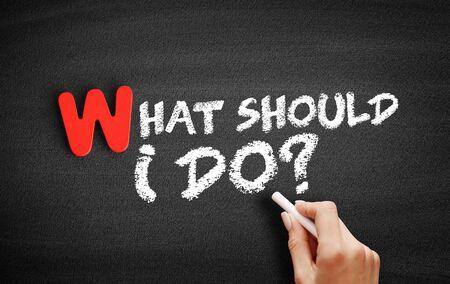 What Should I Do? text on blackboard, business concept background 版權商用圖片