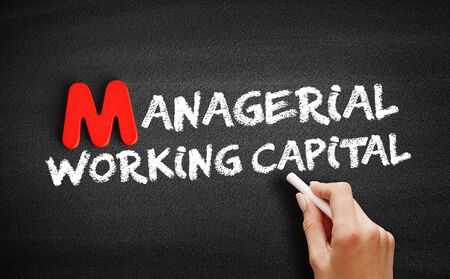 Managerial Working Capital text on blackboard, business concept background