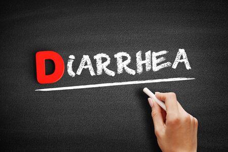 Diarrhea text on blackboard, business concept background