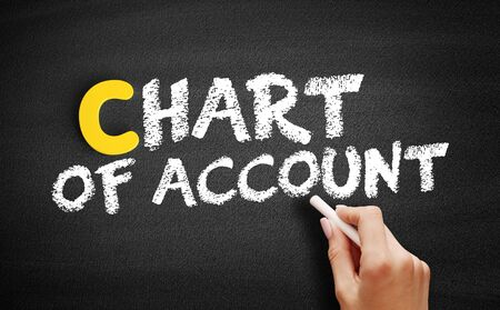 Chart of Account text on blackboard, business concept background