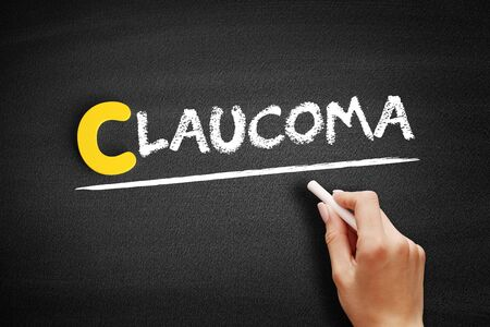 Glaucoma text on blackboard, concept background 写真素材
