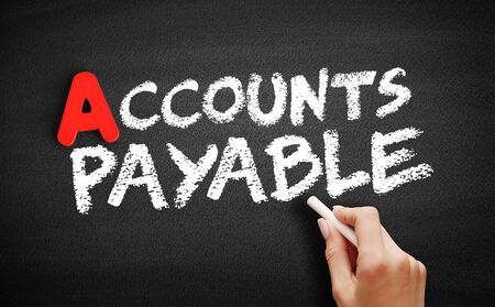 Accounts Payable text on blackboard, business concept background