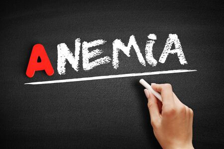 Anemia text on blackboard, concept background 版權商用圖片