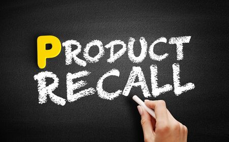 Product Recall text on blackboard, business concept background Фото со стока