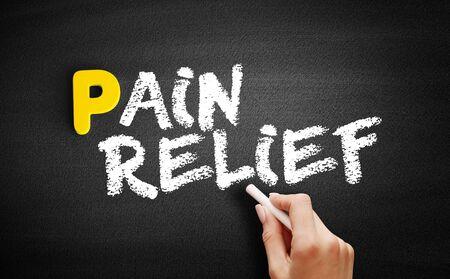 Pain Relief text on blackboard, concept background 版權商用圖片