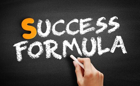 Success Formula text on blackboard, business concept background Banco de Imagens